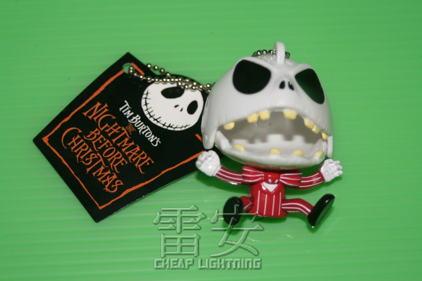 Angry-Jack-Nightmare-Before-Christmas-Keychain-Cell-phone-Charm-Keyring-RED-161139229761