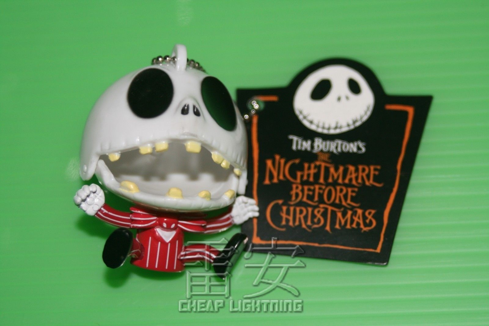 Happy-Jack-Nightmare-Before-Christmas-Keychain-Cell-phone-Charm-Keyring-RED-161139229592