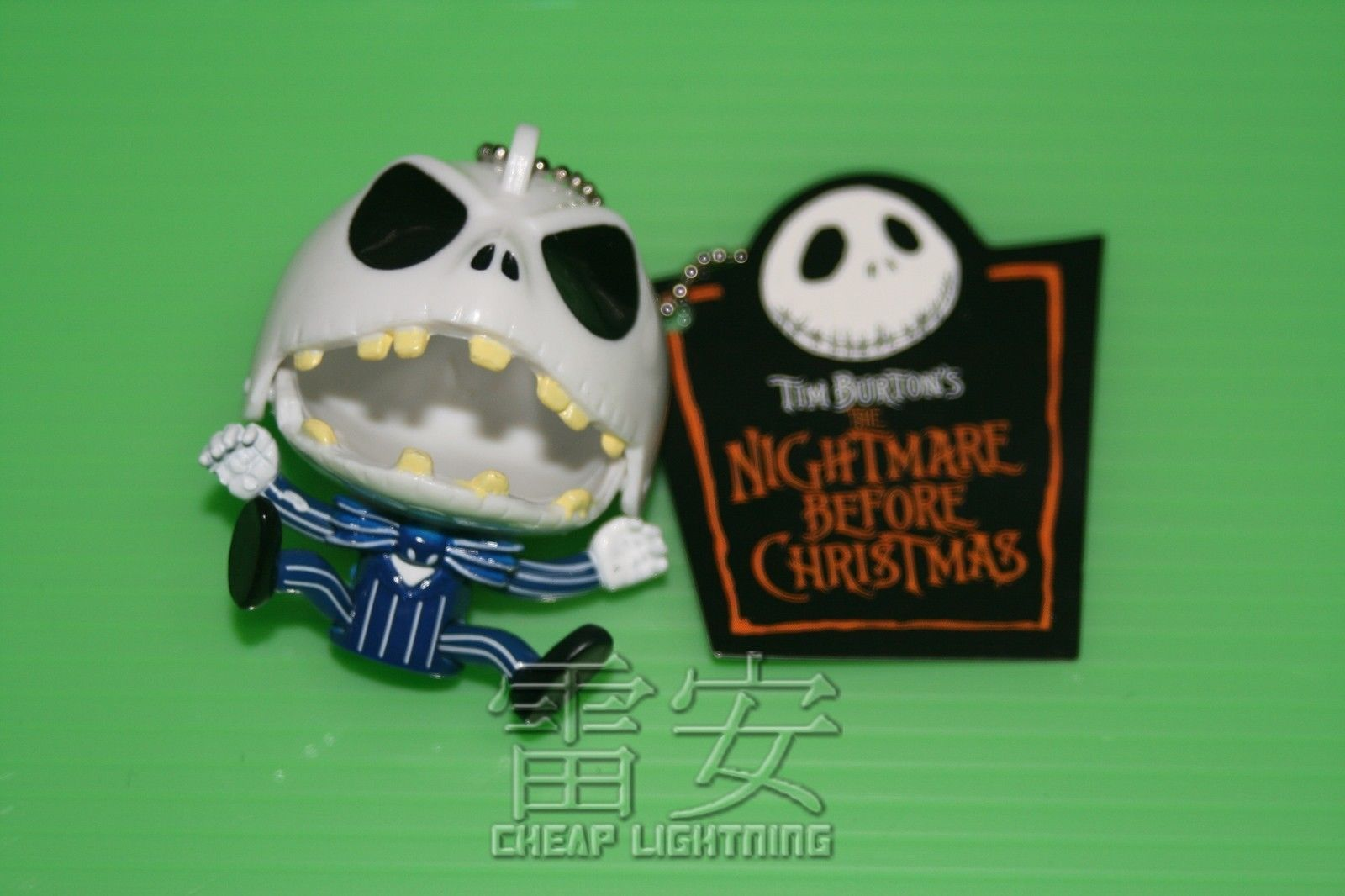 Angry-Jack-Nightmare-Before-Christmas-Keychain-Cell-phone-Charm-Keyring-BLUE-151154887623
