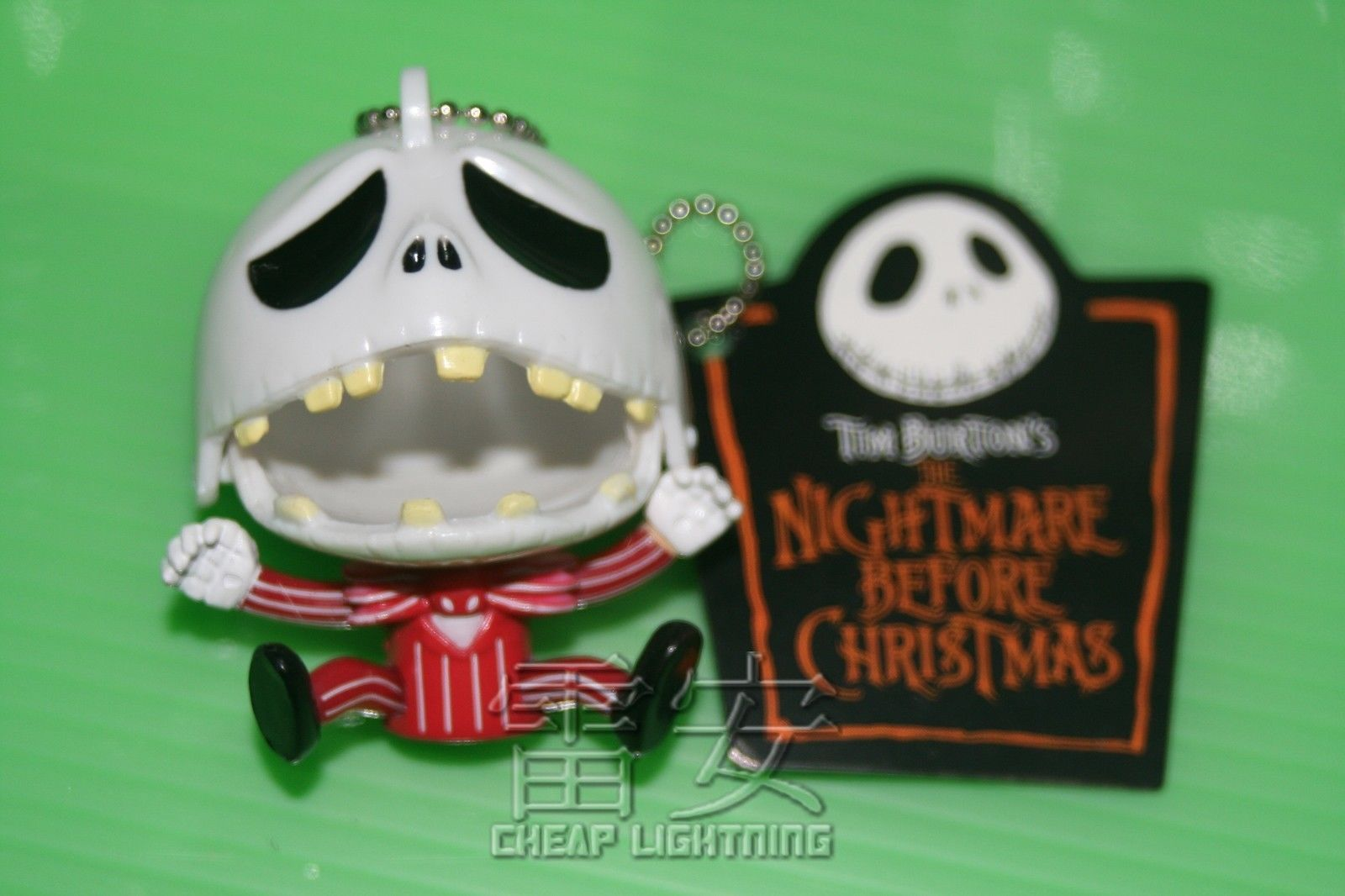 Sad-Jack-Nightmare-Before-Christmas-Keychain-Cell-phone-Charm-Keyring-Red-161139229036