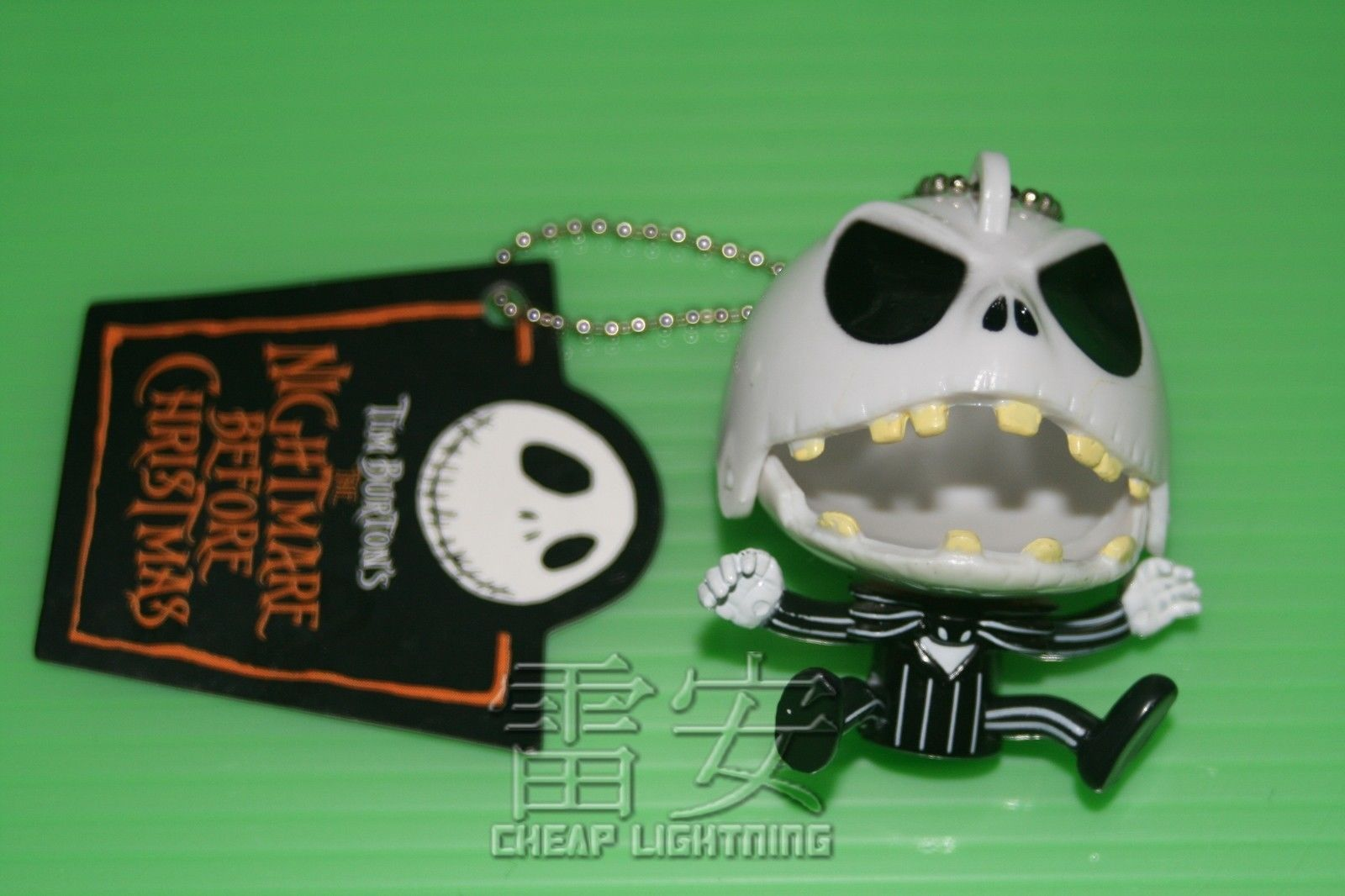 Angry-Jack-Nightmare-Before-Christmas-Keychain-Cell-phone-Charm-Keyring-BLACK-161139230029